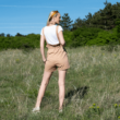 Kantáros rövidnadrág barna
