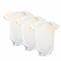 Pamutka Baby - egyszínű fehér kombidressz